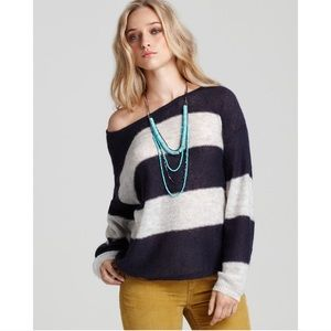 Free People | Fluff Wide Stripe Mohair Sweater M